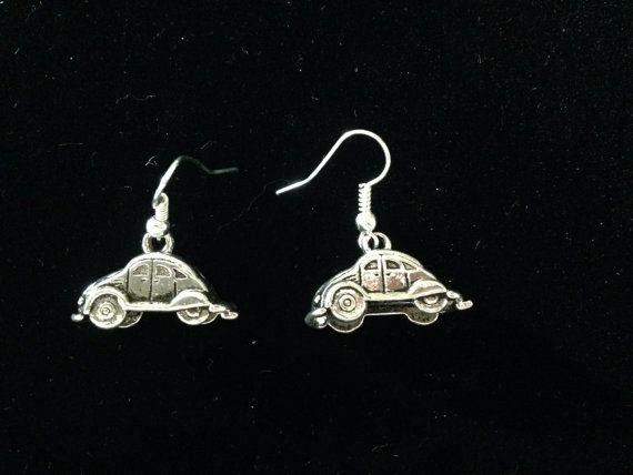 VW Beetle Bug Earrings. by AWiredBird on Etsy