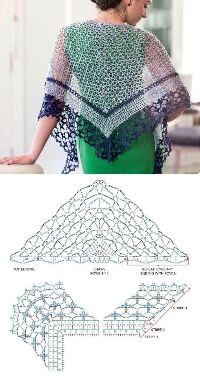Pin de Dani Massey en 1 Crochet Stuff | Pinterest | Chal, Ganchillo ...