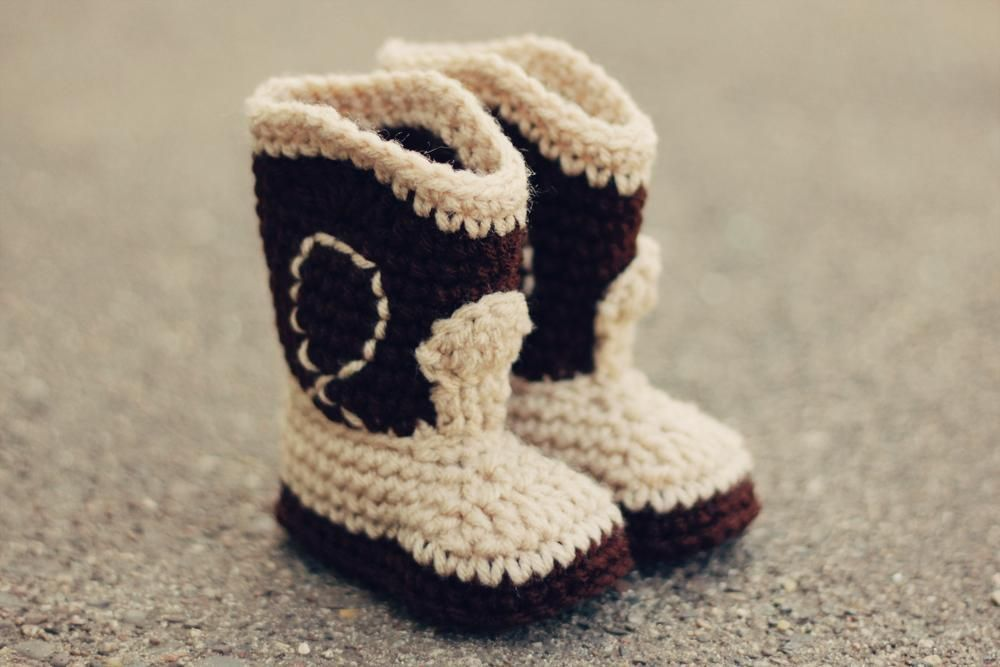 The Western - Cowboy Baby Booties