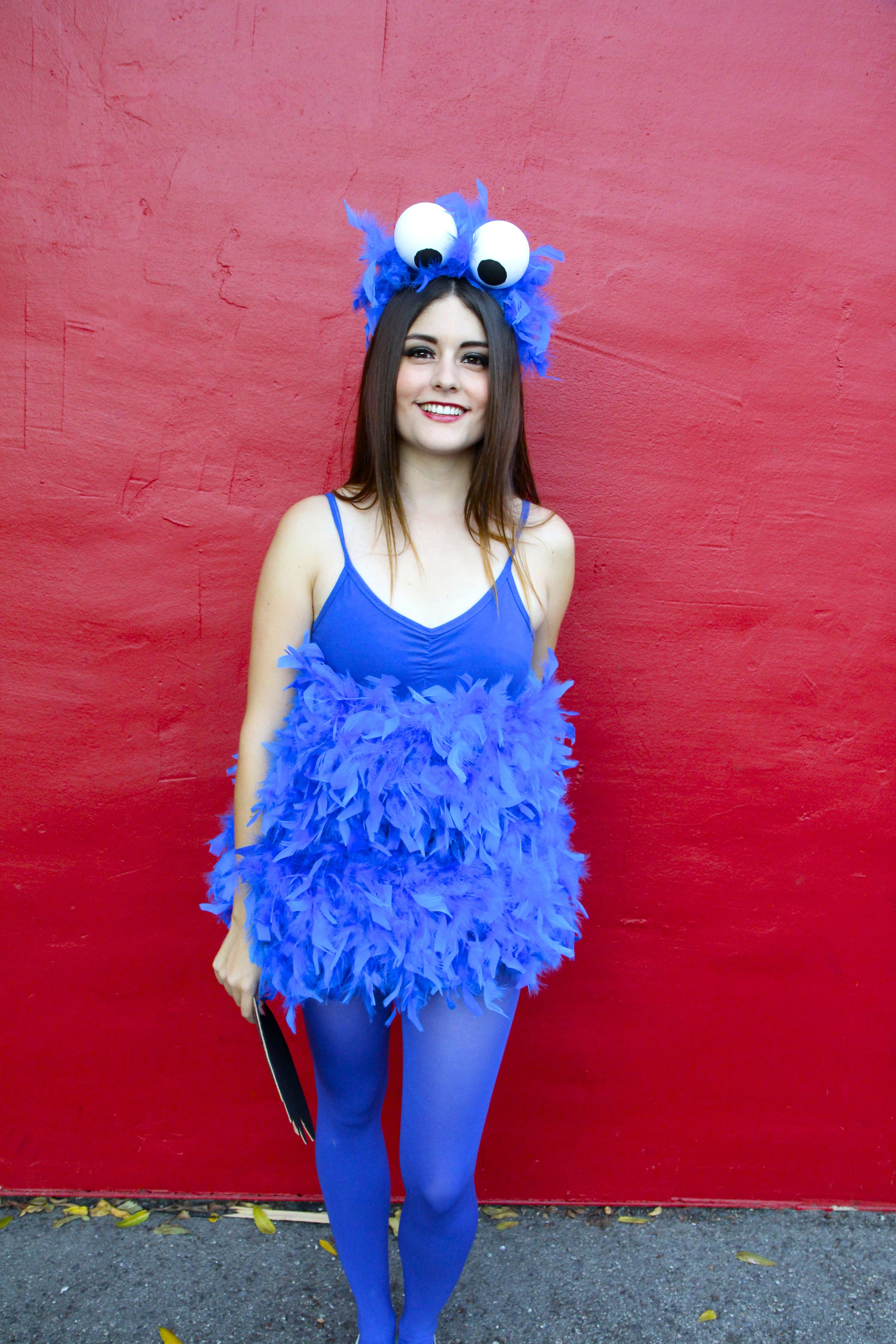 You gotta admit, Cookie Monster is probably one of ... Homemade Cookie Monster Halloween Costume