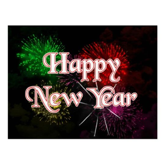 Happy New Year Holiday Postcard Zazzle Com In 2020 Happy New Year Images Happy New Year Message Happy New Year Greetings