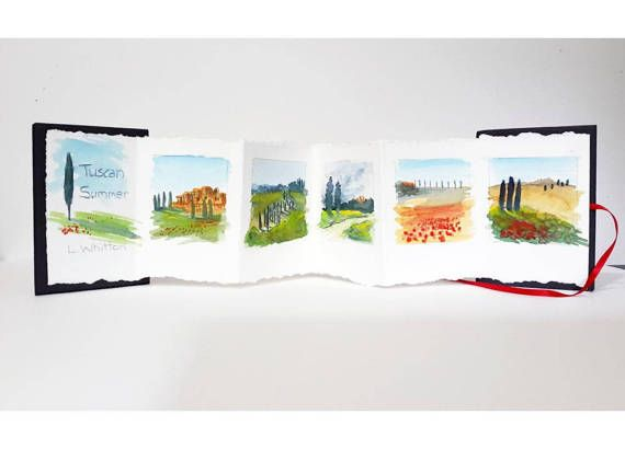 Art Book Concertina Book Watercolour Painting Artist Book