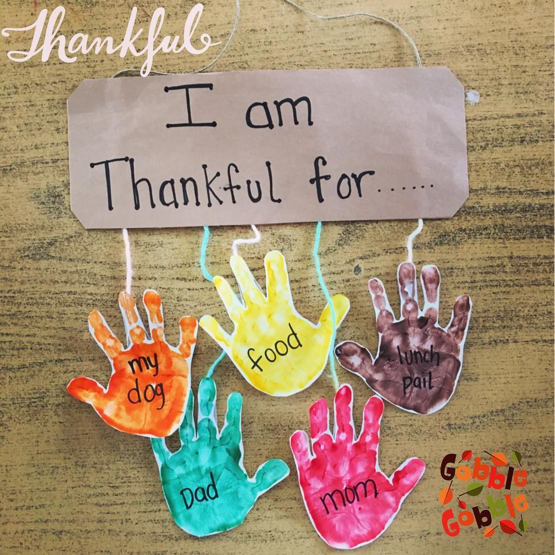 I Am Thankful For Handprint Project From Preschool