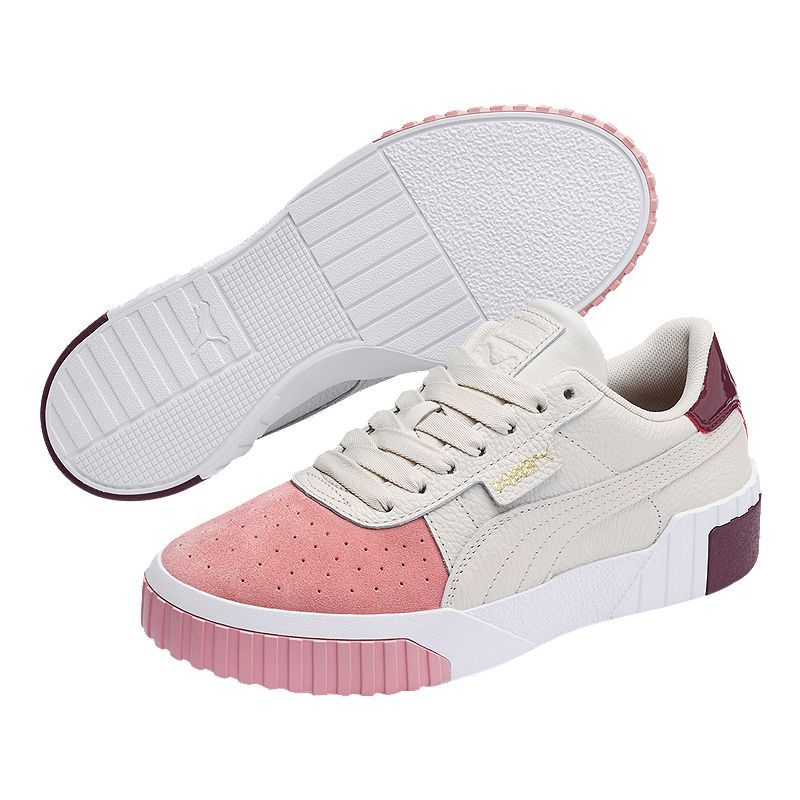 PUMA Women's Cali Remix Shoes - Beige/Pink in 2020 | Womens ...