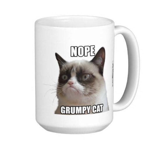 "Mürrische Katze Becher - NOPE. GRUMPY CAT "" Teetasse. Official Grumpy Cat™ Merchandise #GrumpyCat #Tasse - Shop SCHWEIZ"