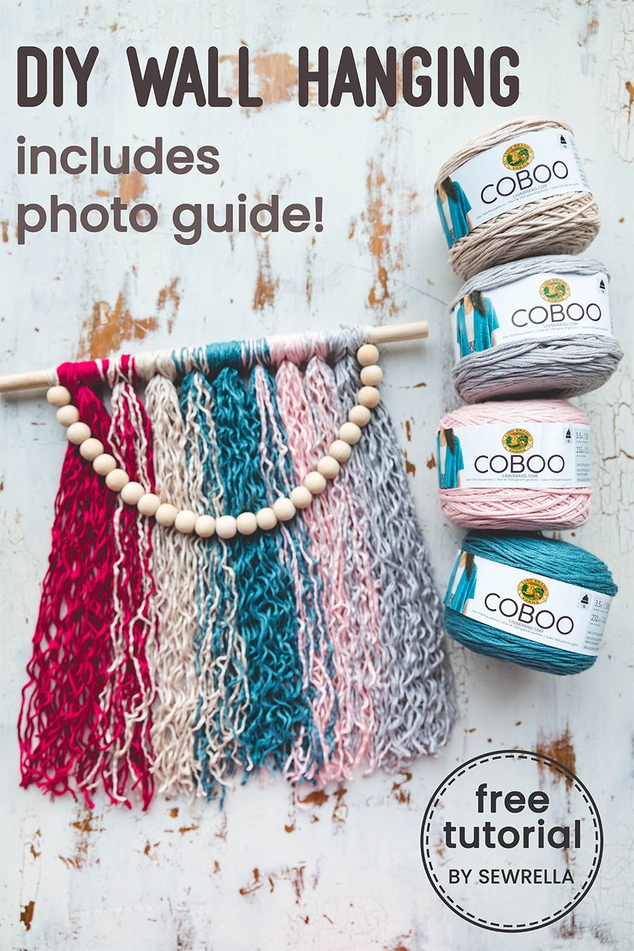 Easy DIY Yarn Wall Hanging CrochetHolic HilariaFina Pinterest