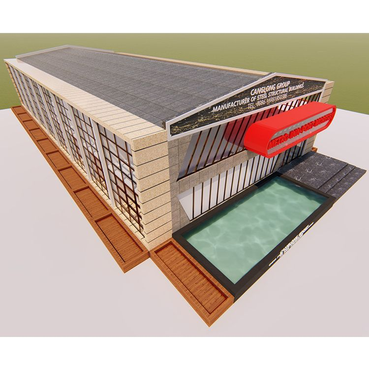 Best Long Span And Large Curve Roof Structure Multi Storey 400 x 300