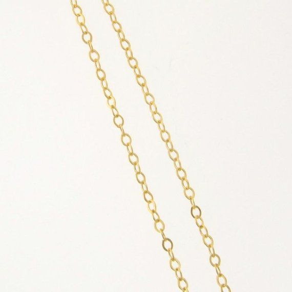14 Inch 14k 1 6mm Gold Filled Flat Round Cable Chain Necklace Custom Lengths Available Made In Usa Italy Gold Chain Silver Flats