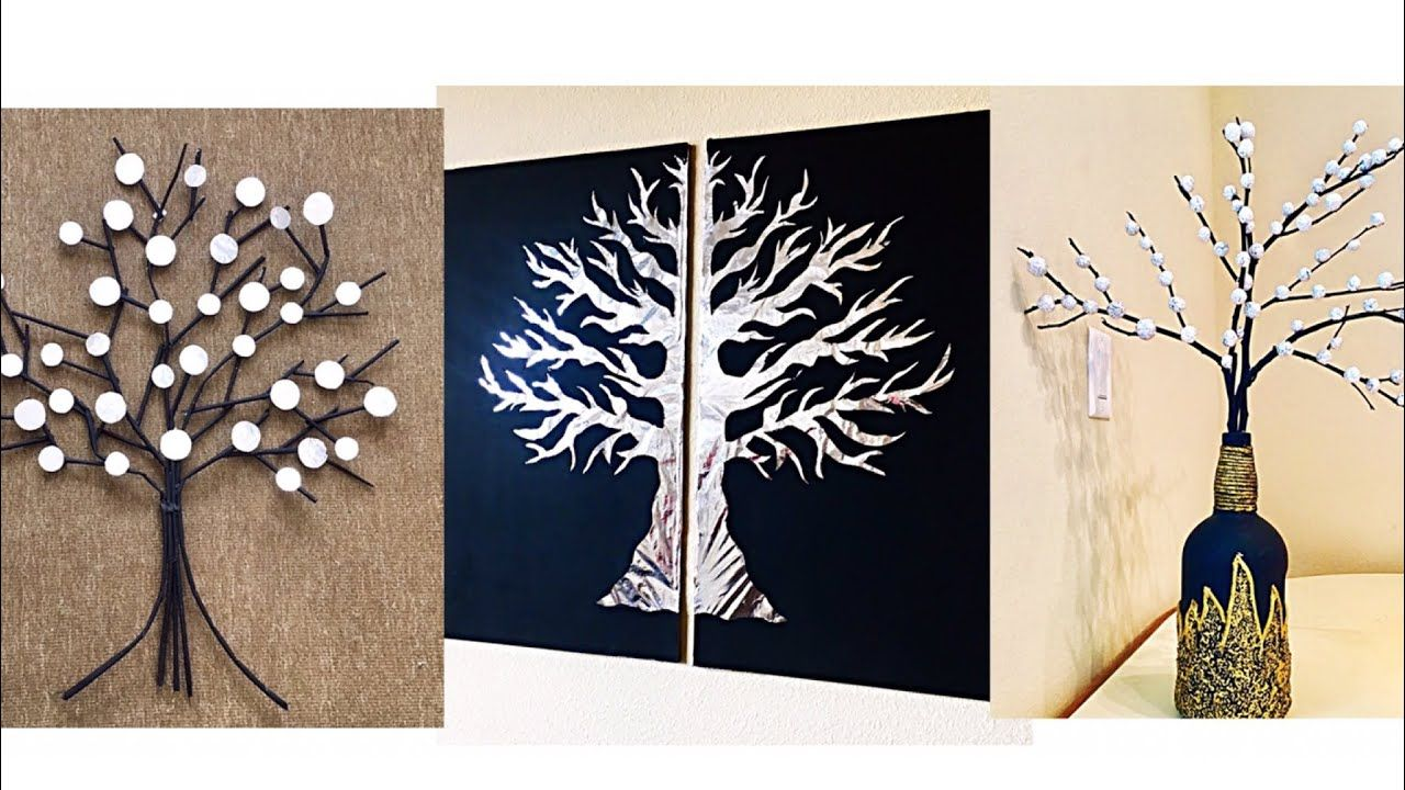 3 Unique Wall Hanging Craft Ideas Aluminum Foil Wall Decor Ideas Room Decor Fashion Pixies Youtub Aluminum Foil Crafts Wall Hanging Crafts Foil Wall Decor