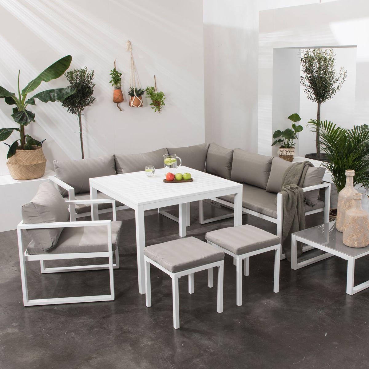 Salon De Jardin Ibiza 7 Places Taille 6 Pers Products