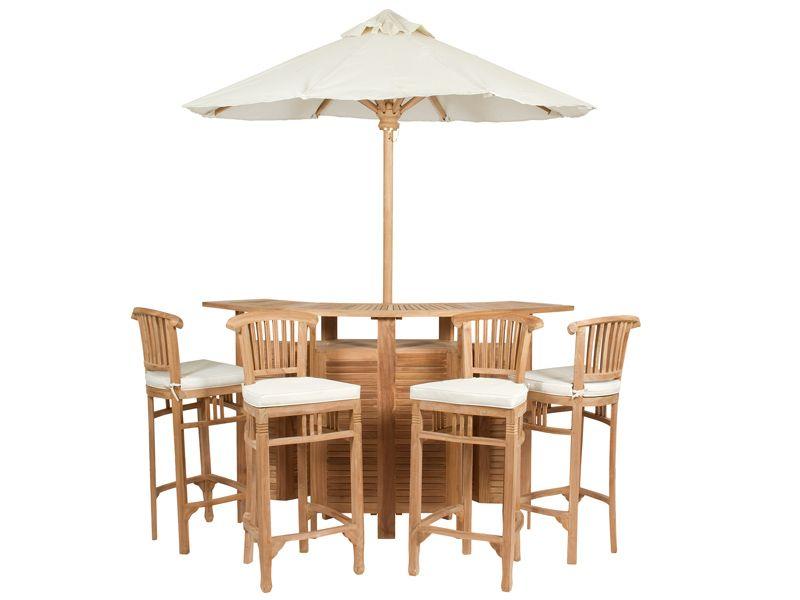 Conjunto Terraza Bar En Teca Resin Patio Furniture Patio Furniture Cushions Furniture