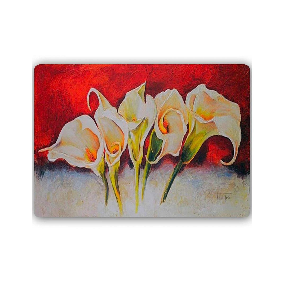 Plaque Acier Decorative Fleurs Beaute Taille Taille Unique