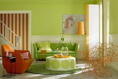 braune wand orange und grüne muster - Google-Suche | H.d. colour ...