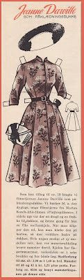 Ingrids Påklædningsdukker: Tempo 1954 Jeanne Darville