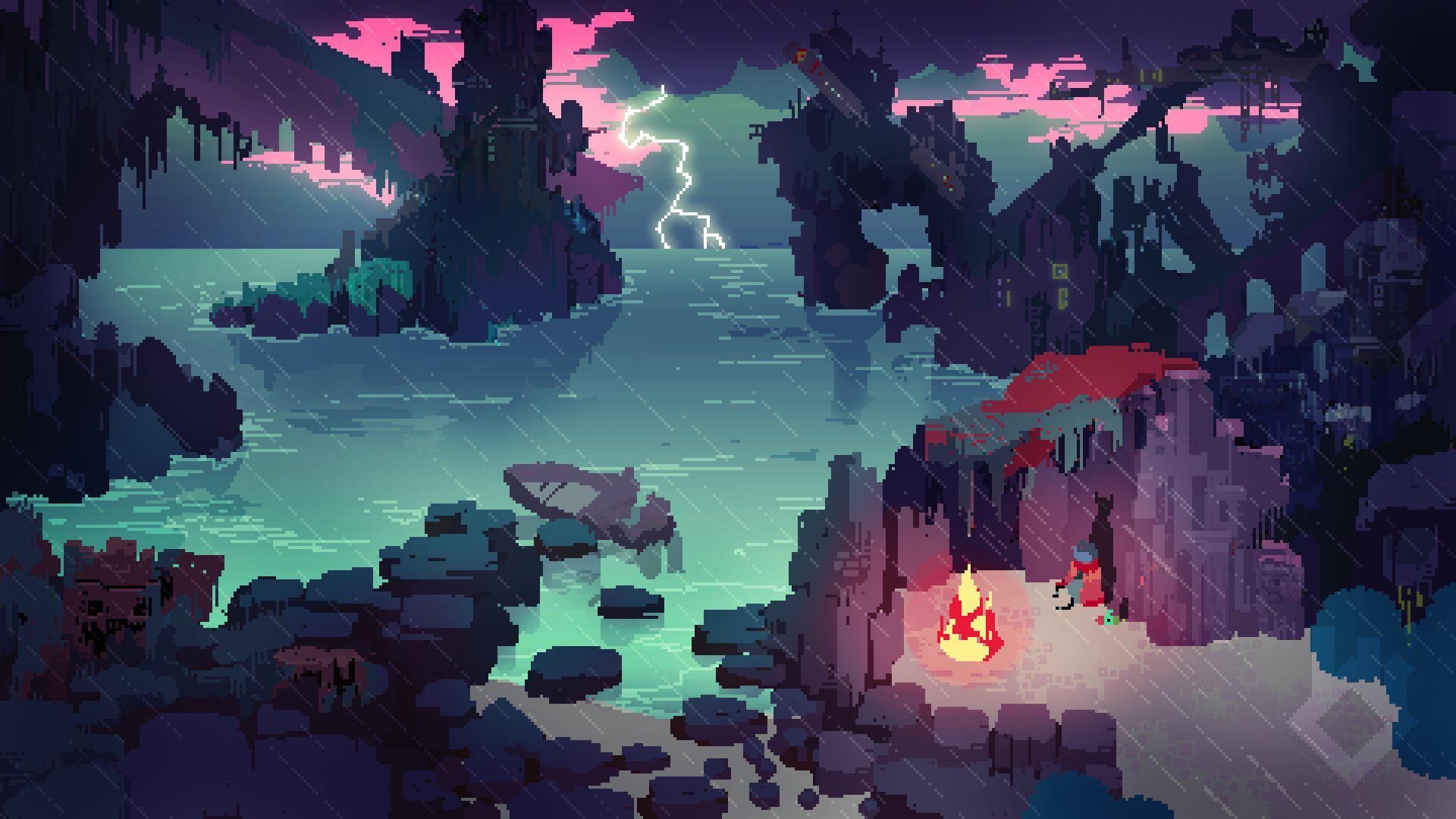 Stranded Cove Pixel Art 1920x1080 Pixel Art Landscape Pixel Art Design Pixel Art Background