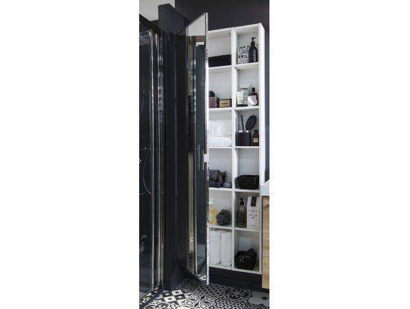 Une salle de bains gain de place dans 3m² Idées pour la maison