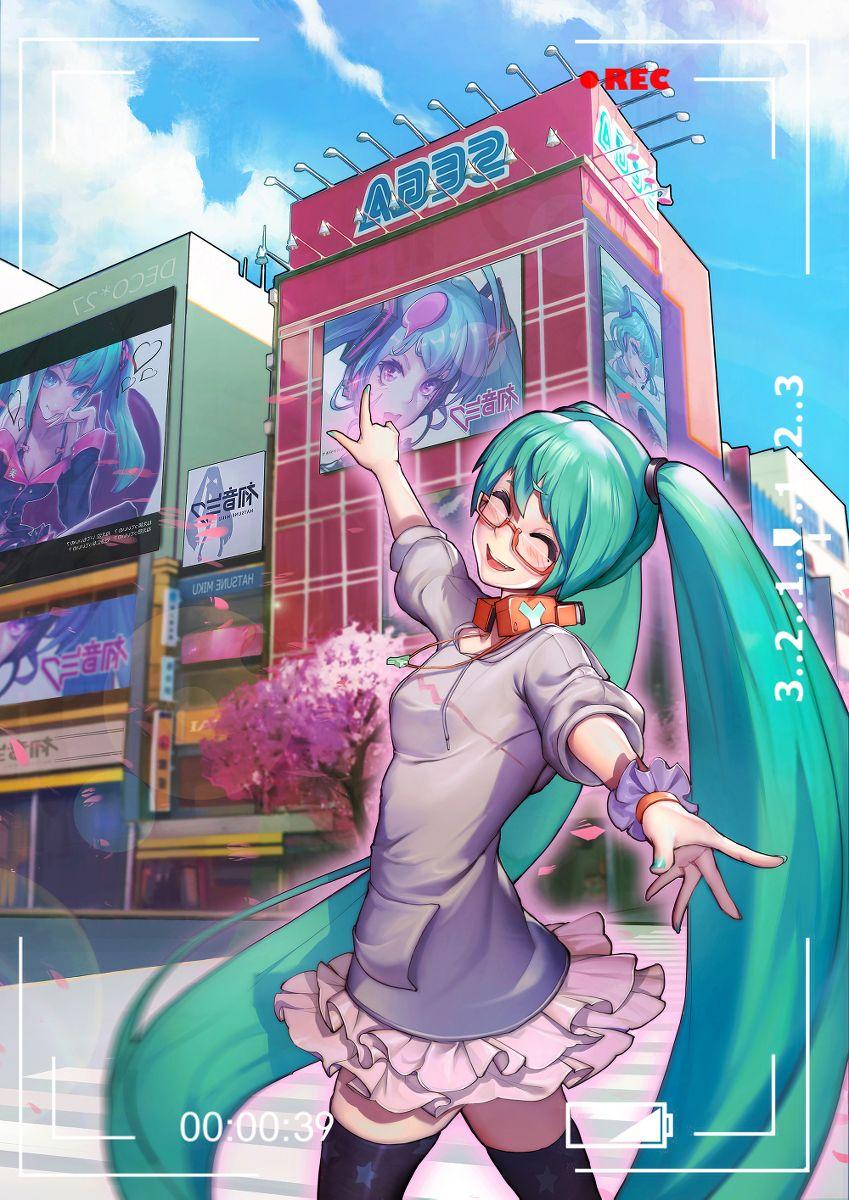 Vocaloid Hatsune Miku art by 欧泡 (Pixiv) (Dengan gambar)