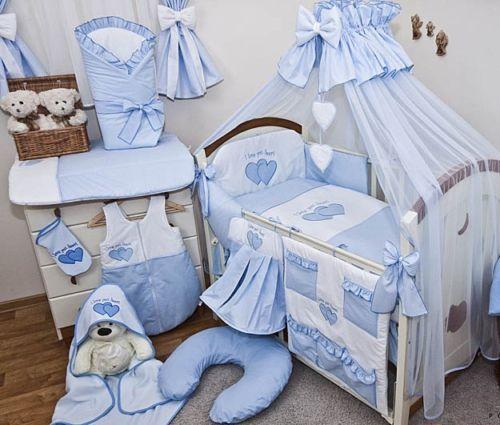 babybett blau mit 10 tlg komplett set bettw sche matratze. Black Bedroom Furniture Sets. Home Design Ideas