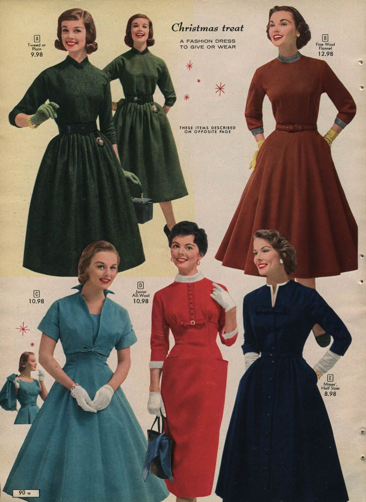 1957 Canadian Simpsons Sears Christmas Catalog Full Catalog Can Be Viewed At Http Www Wishbookweb Com Vintage Fashion 1950s Vintage Outfits Vintage Dresses