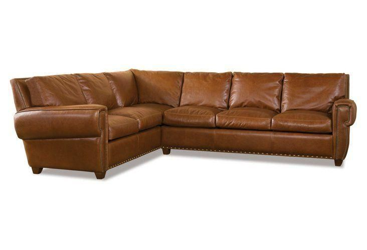 Denver Leather Sectional, Medium Brown -- This leather ...