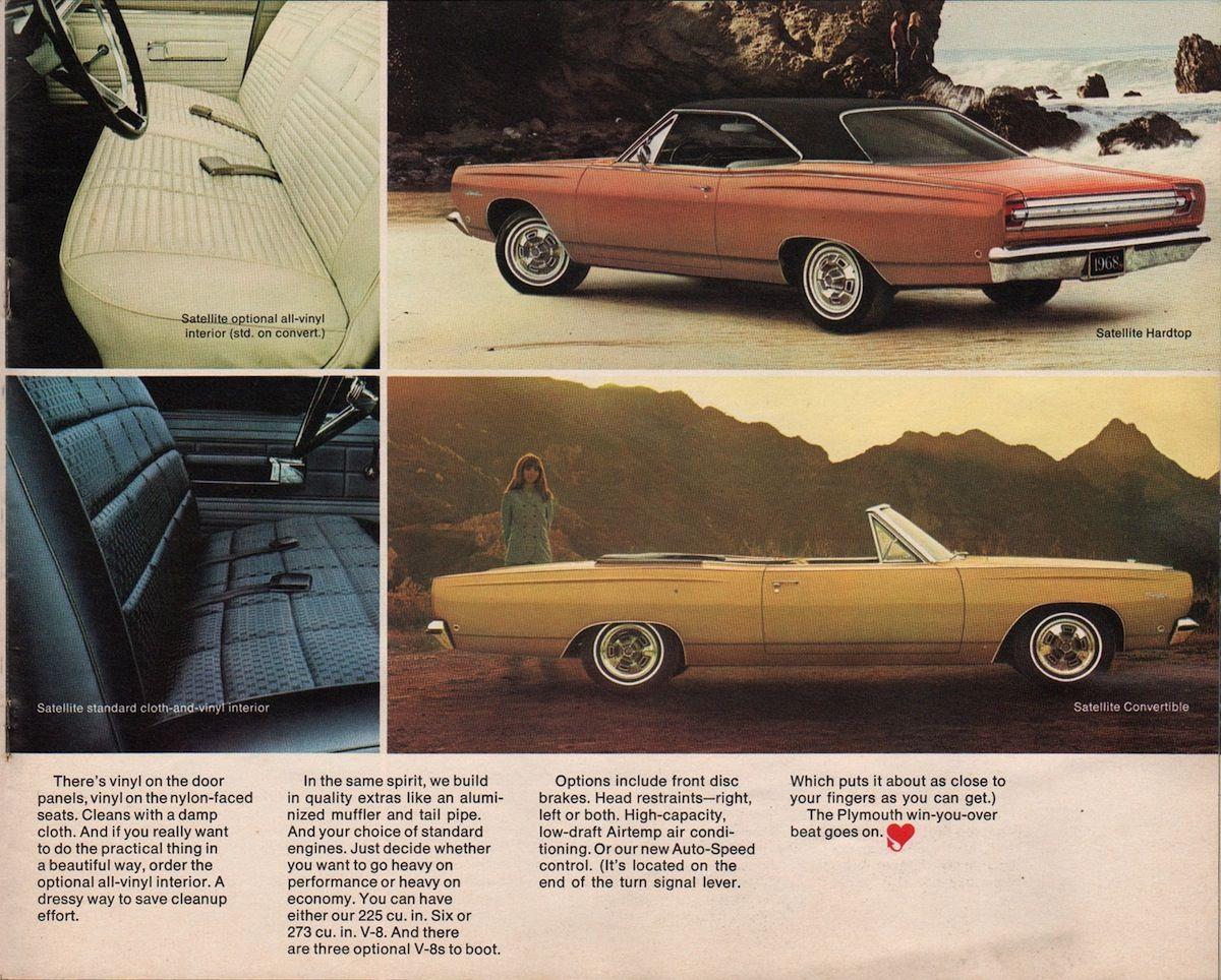 Chrysler 1968 Plymouth Sales Brochure Chrysler Plymouth Sales Brochures
