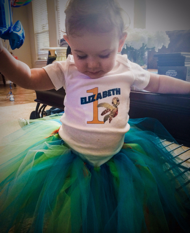 Finding Nemo - Elizabeth's 1st Birthday Party - Handmade Nemo Tutu & Personalized Onesie