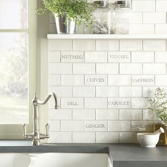 herbs spices tile splashback from the winchester tile company kitchen splashback ideas kitchen - Kitchen Tiling Ideas
