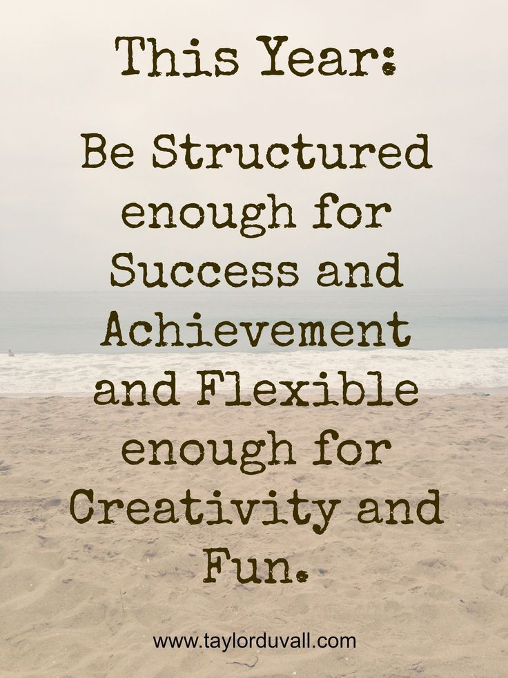 My New Year's Resolution - Time Management: Structured Enough for Success, Flexible Enough for Fun - Taylor DuVall