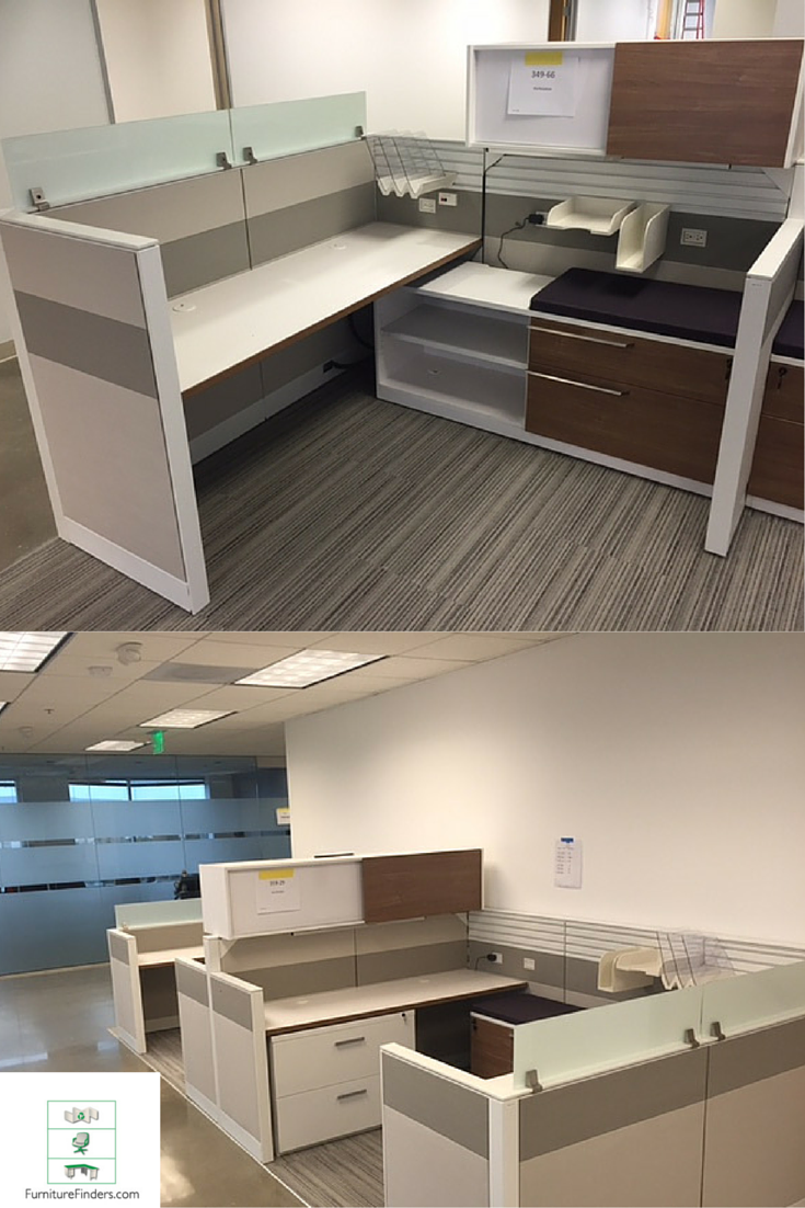 New Modern Office Cubicles With Glass U0026 Wood Grain Storage. Love The 2  Colors In