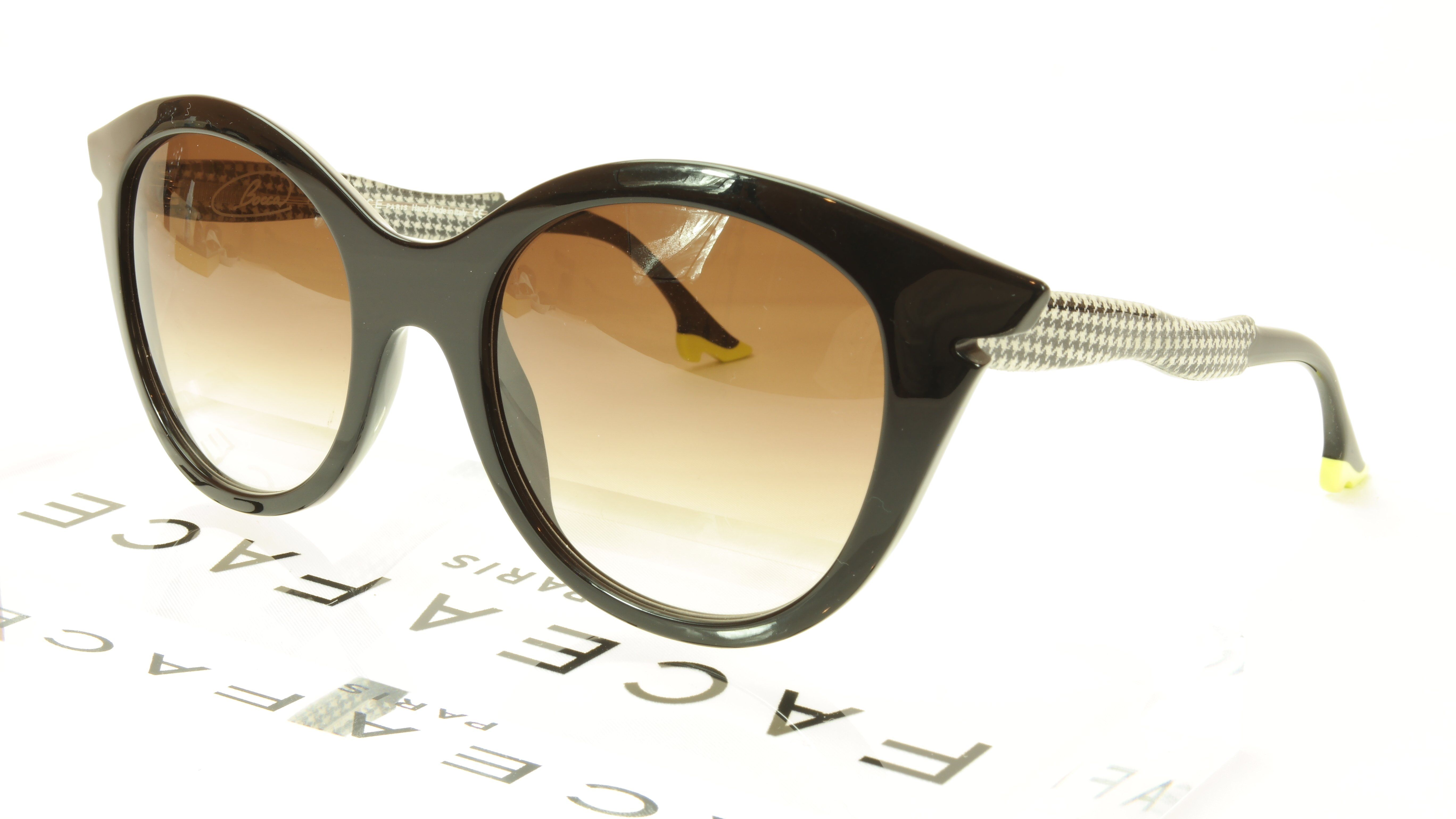 8a7118fc7af Face A Face Bocca Sixties 3 100 Sunglasses Black Houndstooth Italy Hand Made