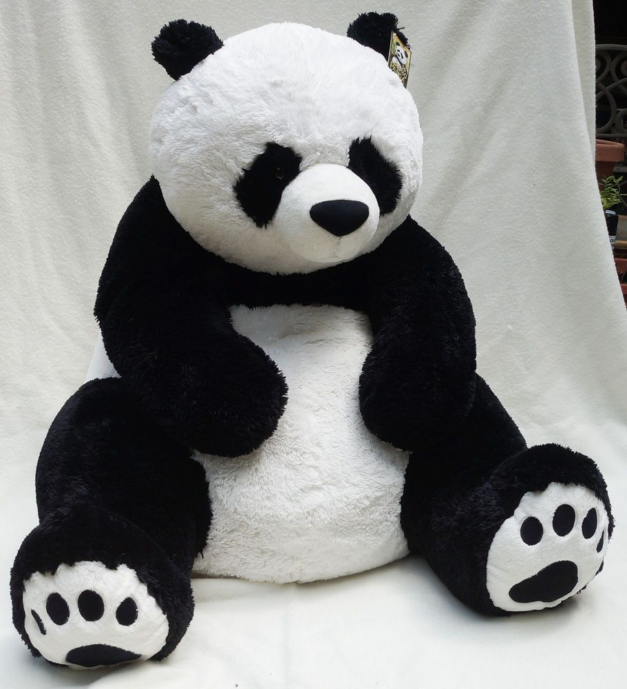 Hugfun International Jumbo Panda Bear Plush Stuffed Toy 36 3 Ft