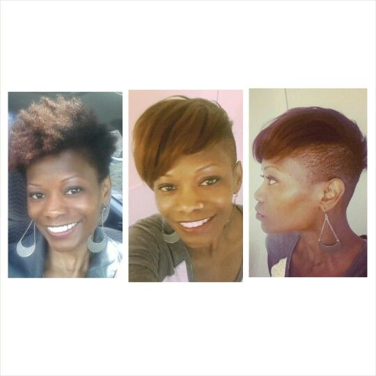 Blow Out On Tapered Natural Hair Tapered Natural Hair Short