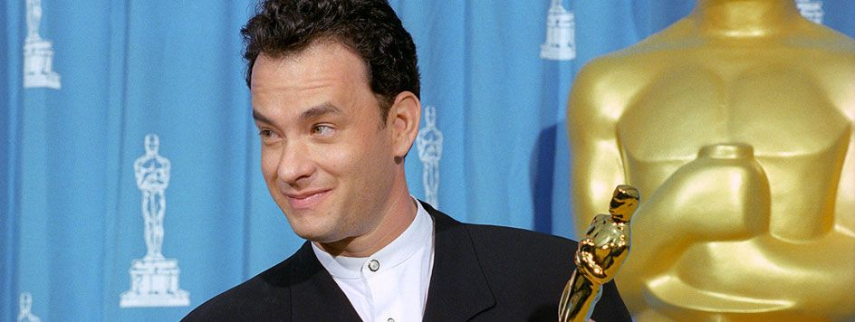 The 67th Academy Awards | Oscar Legacy | Academy of Motion Picture Arts and Sciences  1994 Best Actor Tom Hanks ...2 years in a row Philadelphia Story 1993 and Forrest Gump in 1994