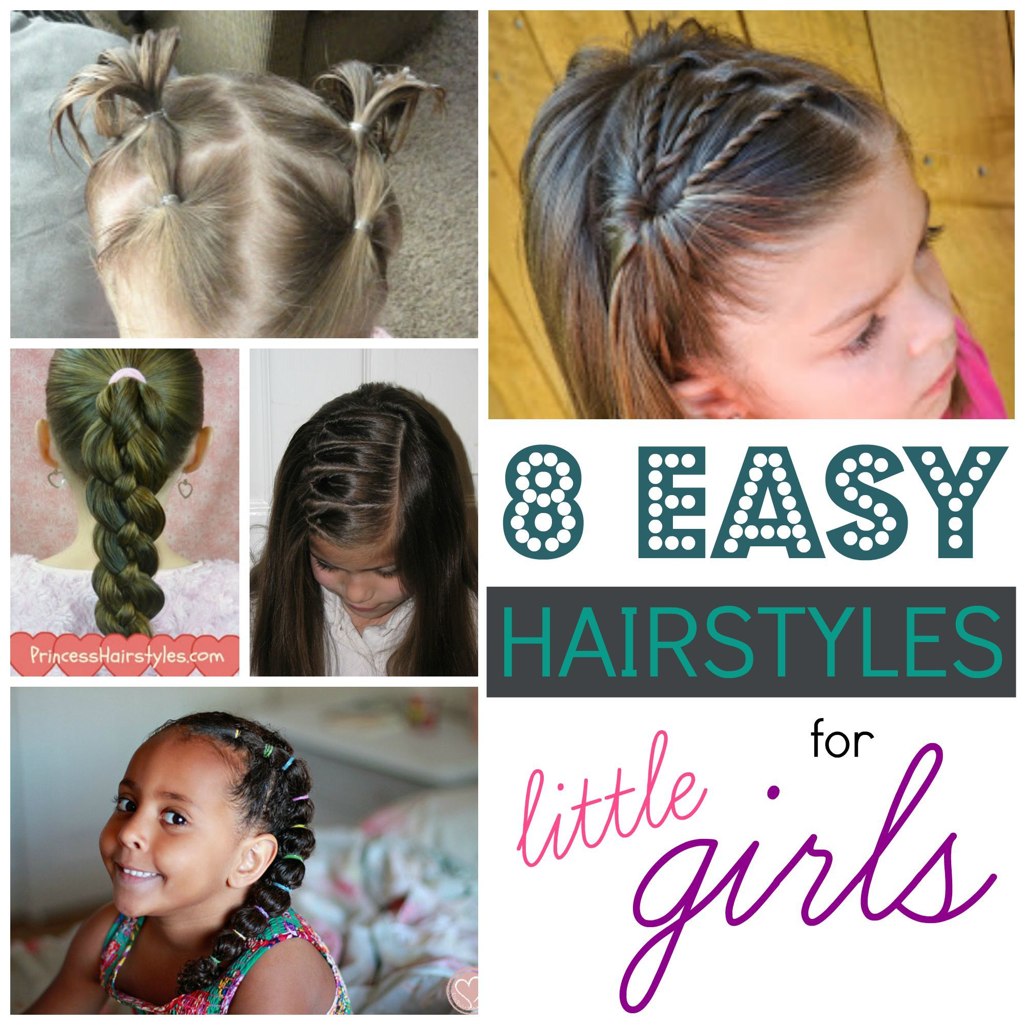 find a cute new hairstyle for your little girl! 8 easy