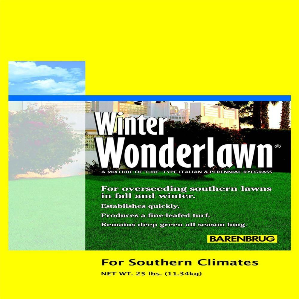 Awesome Barenbrug 25 Lb Winter Wonderlawn Grass Seed 23065 New Home Interior And Landscaping Dextoversignezvosmurscom