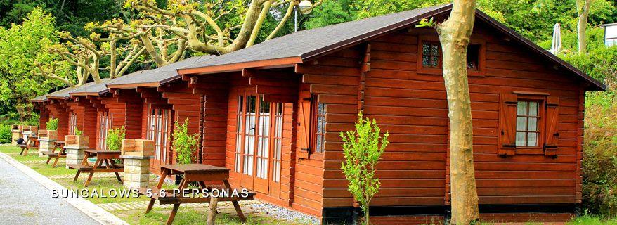 bungalows en el camping jaizkibel de hondarribia - fuenterrabía