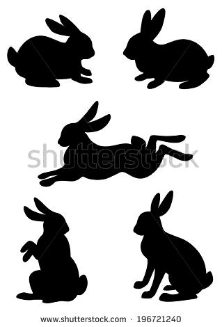 Vector Silhouette Rabbit Hare Stock-Vektorgrafik (Lizenzfrei) 196721240 #steineb…