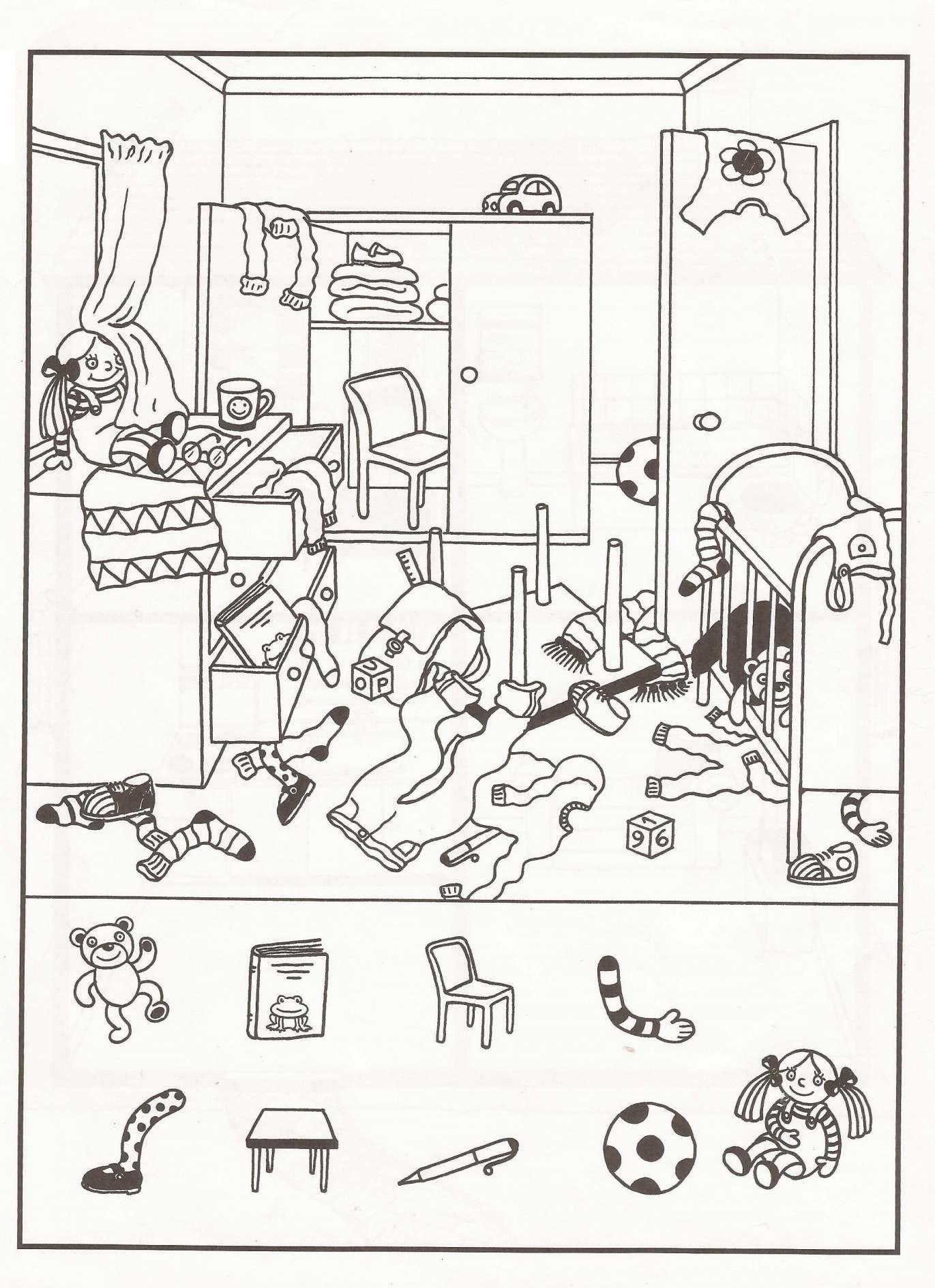 10 Bedroom Worksheet For Kindergarten