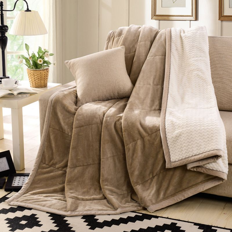King size fleece blanket on the bed sofa thick winter for Blankets king size bed