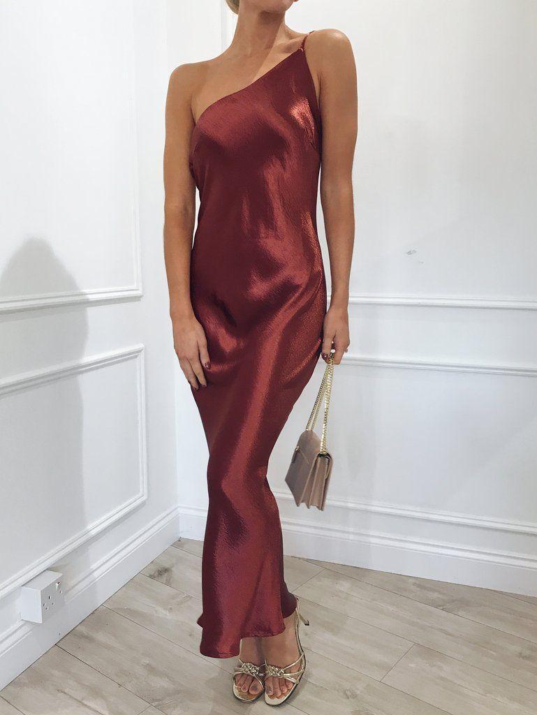 8f15ef475e9 Pretty Lavish – Amelia Slip Dress - Rust
