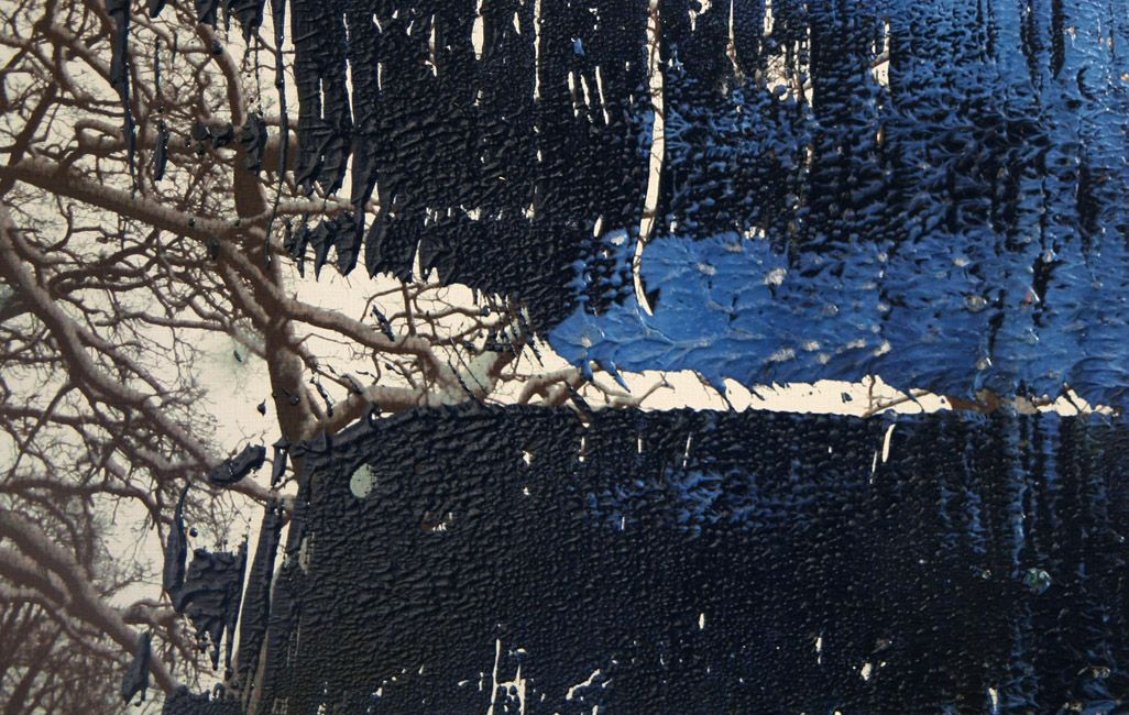 Koen Lybaert - Kasterlee [Overpainted photograph 0070] - oil on photograph [21 x 30] / 2013 - [Kasterlee, Belgium] - [price 160 euro, shipment include]
