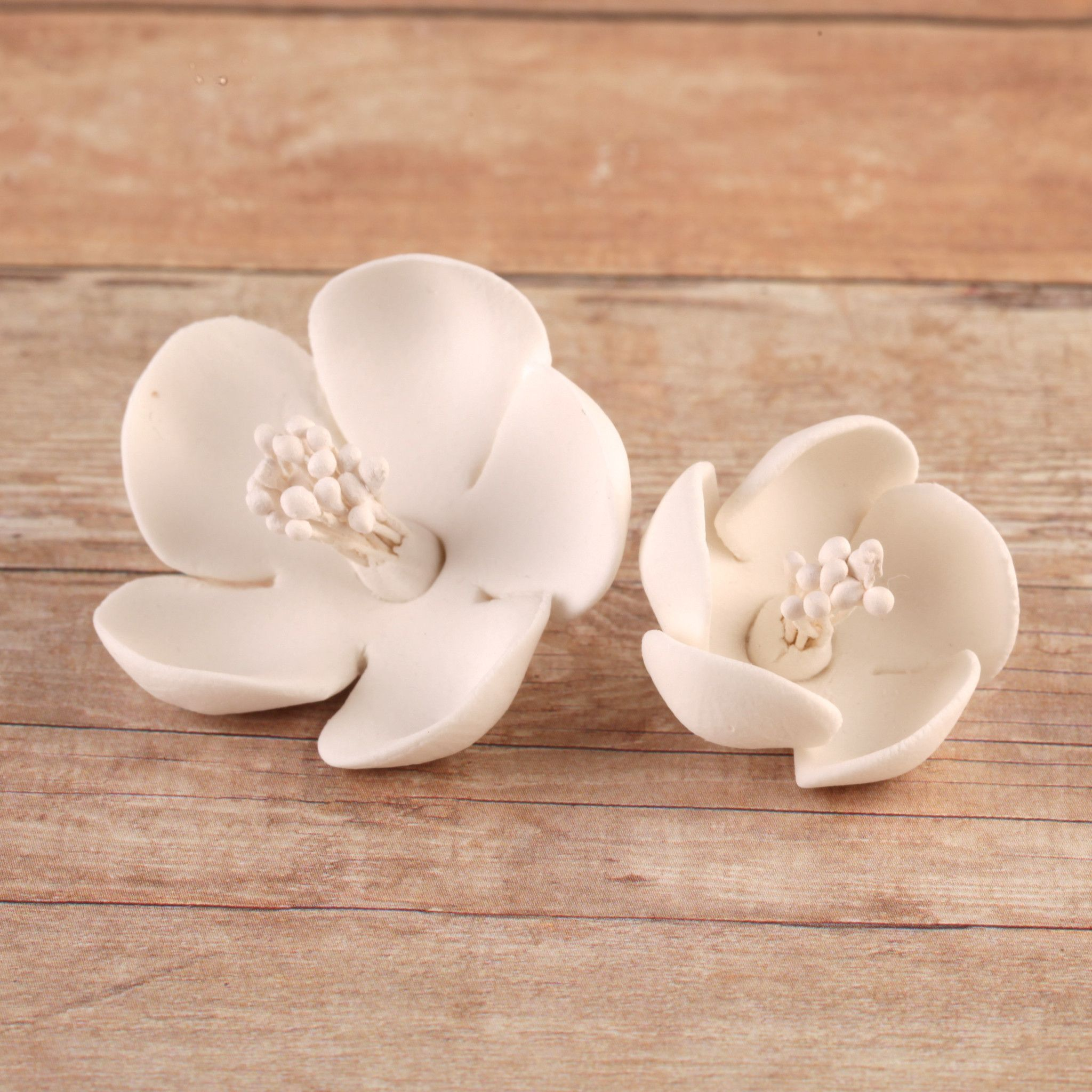 White Cherry Blossoms Unwired Edible Cake Decorations Childrens Birthday Cakes Fondant Wedding Cakes