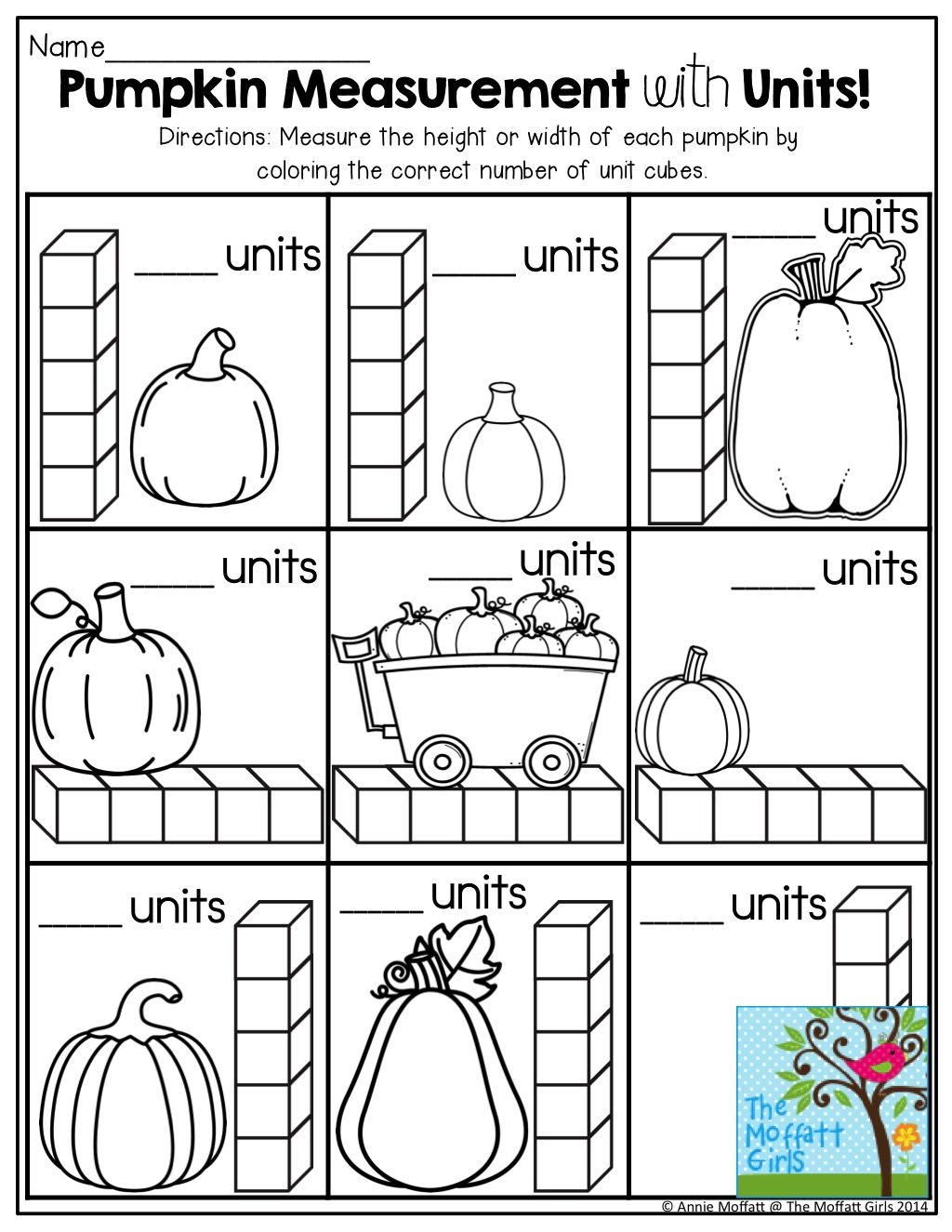 Pumpkin Measurement and other fun printables! Preschool