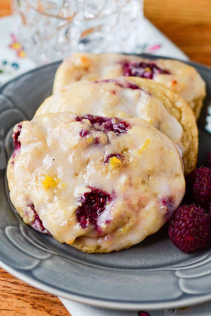 Raspberry Yogurt Breakfast Cookies via @onceamonthmeals