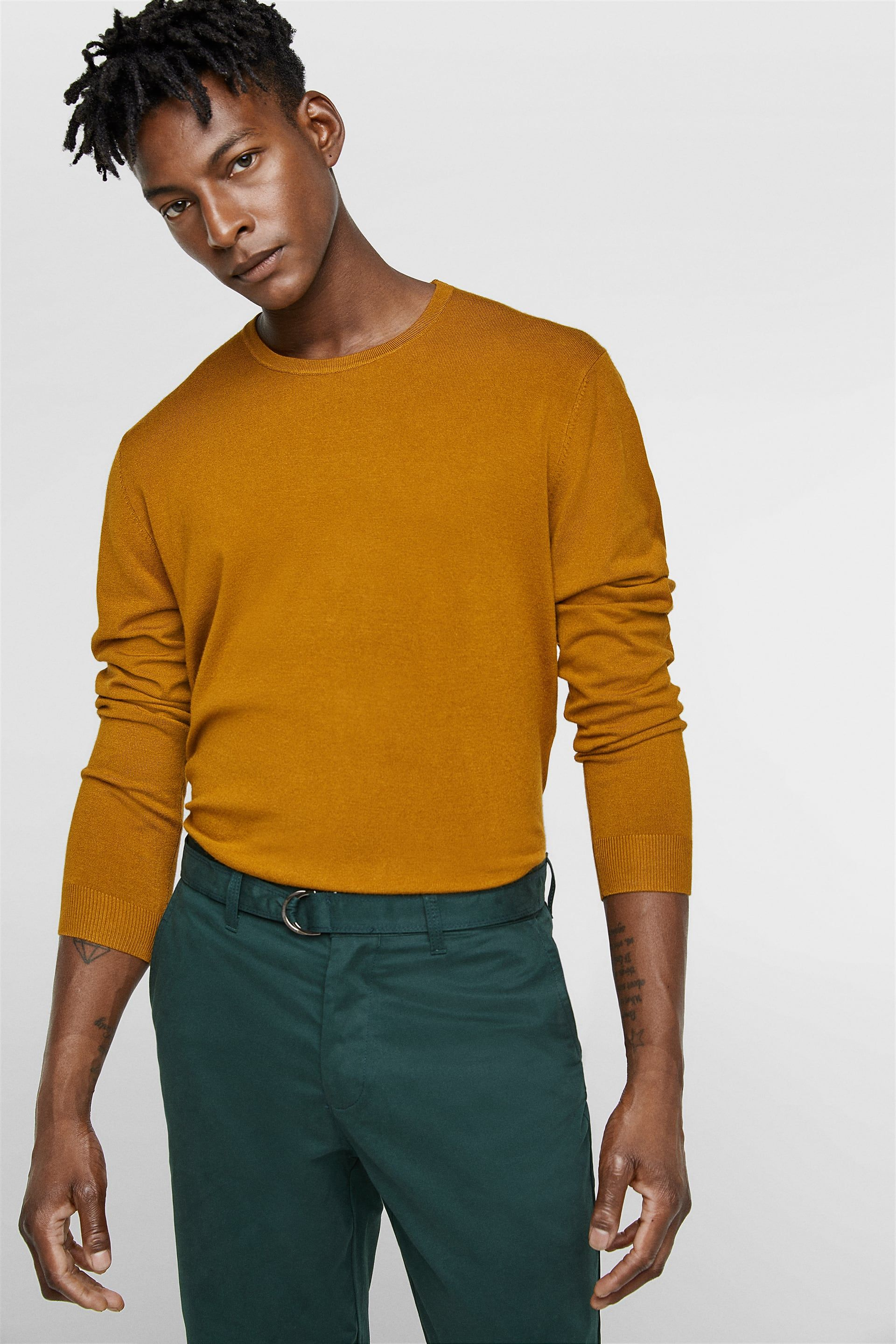 be300fe3a2 ROUND NECK SWEATER - Item available in more colors | Closet | Men ...