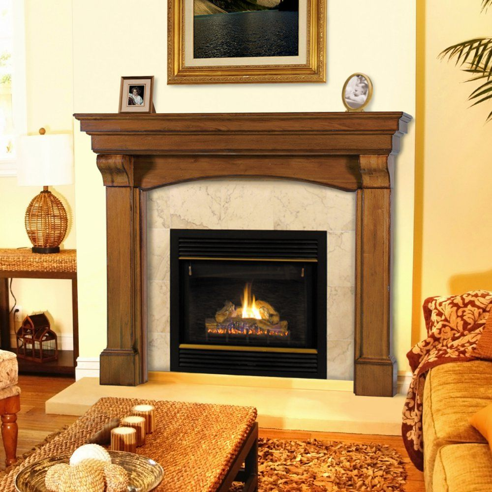 Pearl Mantels Blue Ridge Arched Fireplace Surround Gather Round