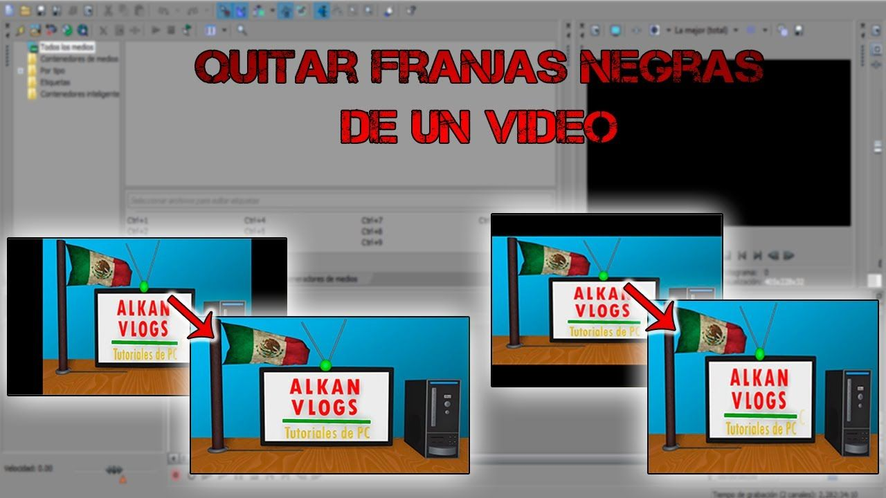 Tutorial: Quitar franjas negras de un video (laterales o superior e infe...