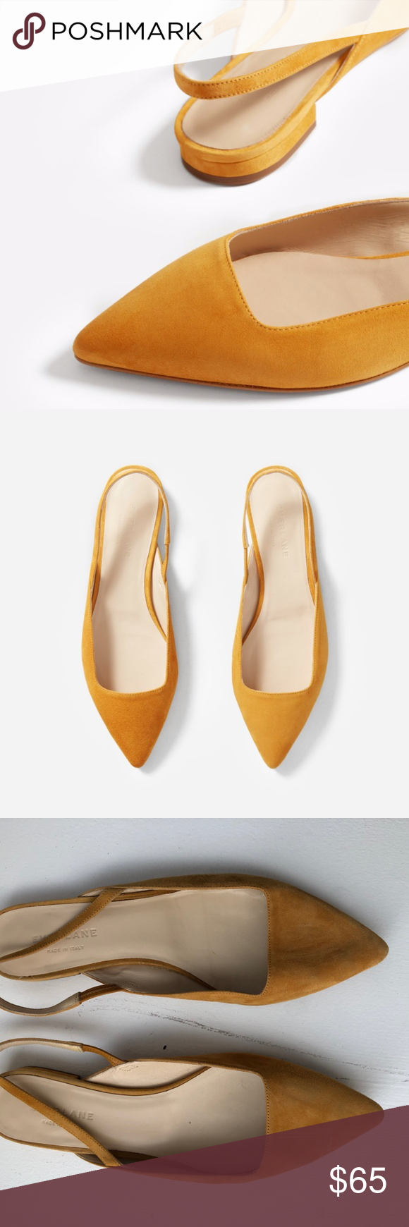 e78b2b517 Everlane Women's Editor Slingback Everlane Women's Editor Slingback in Mustard  Suede. Worn once. Perfect condition. Size 9. Everlane Shoes Flats & Loafers