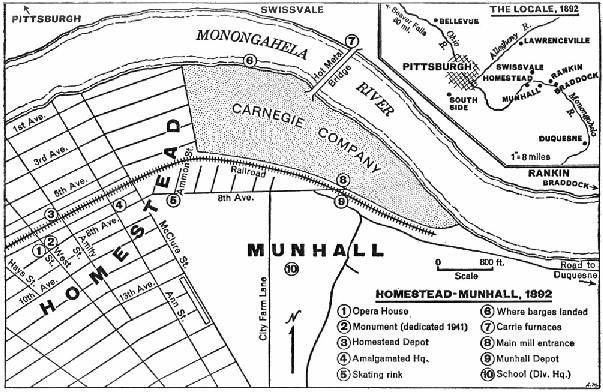 Homestead Works map Old Pittsburgh Pinterest Homesteads and