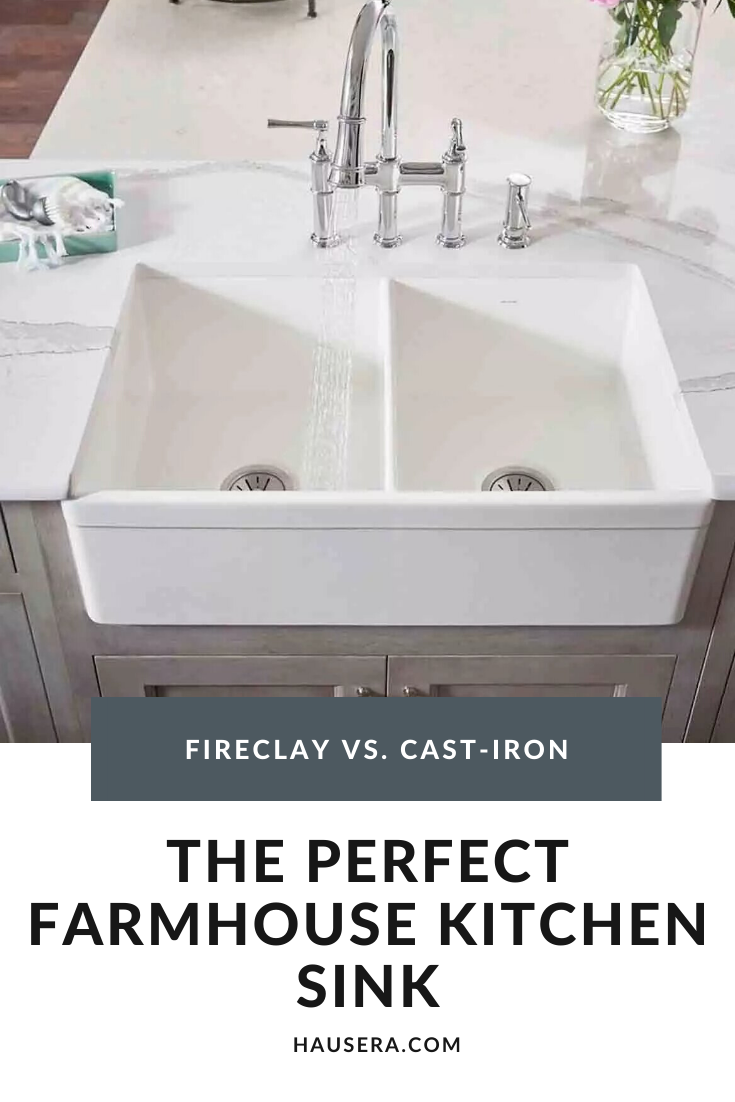 Farmhouse Kitchen Sinks Fireclay Vs Cast Iron In 2020 With